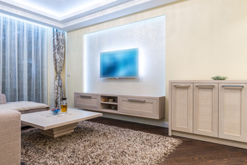 White lounge in modern house interior