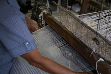 traditional Asia loom detail