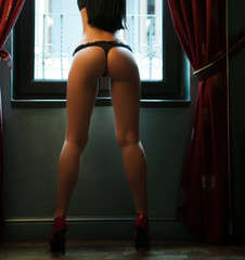 Body of woman with sexy ass
