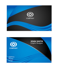 Templates for creative business cards. Elements for design