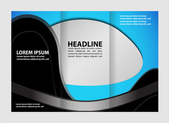Tri fold business brochure vector template