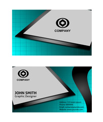 Set of templates for creative business cards. Elements for design