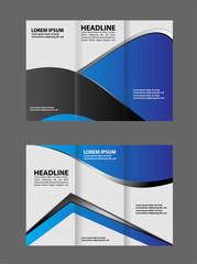 Corporate Blue Tri Fold Business Brochure Design Template