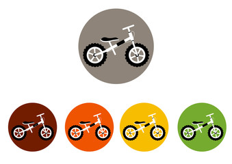 set of  colorful icons for bicycles ,sport,vector illustrations