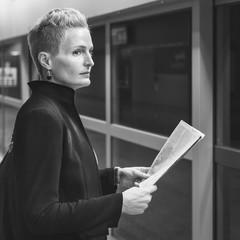 Businesswoman Lifestyle Commuter Newspeper Concept