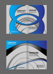 Bi-Fold Corporate Business Store Mock up & Brochure Design