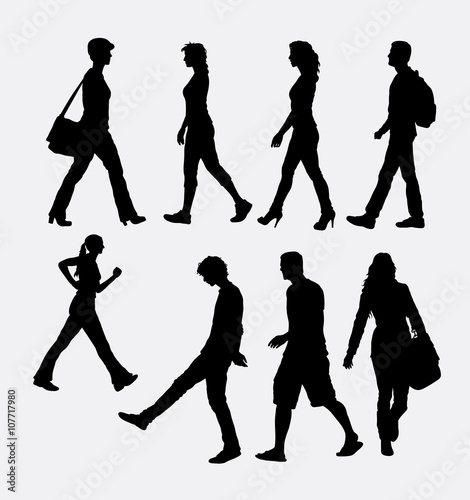 "Walking People Logo ""People male and ..."