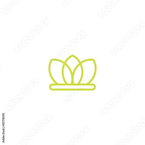 quotflower crown logoquot stock image and royaltyfree vector