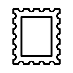 Postage stamp or letter stamp line art icon