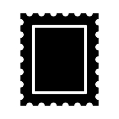 Postage stamp or letter stamp flat icon