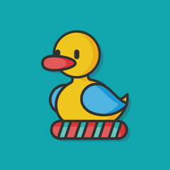 toy duck vector icon