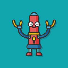 robot machine vector icon