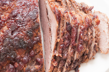 sliced passover beef  brisket