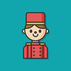 hotel bellman vector icon