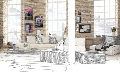 City-Apartment (Zeichnung)