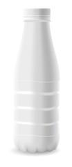 Plastic milk bottle.