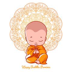Greeting card for Buddha birthday.