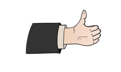 comic thumb up