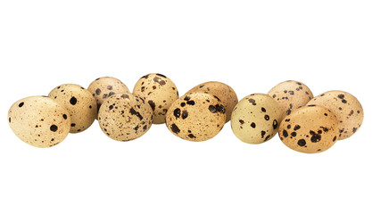 quail eggs isolated at white background