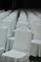 meeting white chair in seminar emtry people