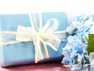 present gift box with bow decoration use for variety of holiday