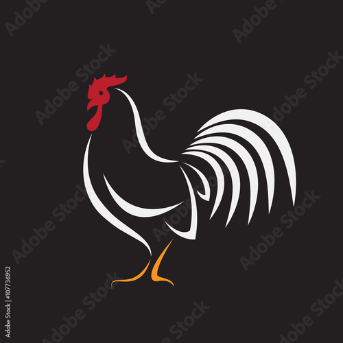 Vector image of an cock design on black background stock image and royalty free vector files - Cock designing ...