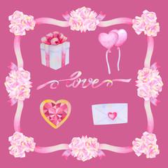 Watercolour Love Set