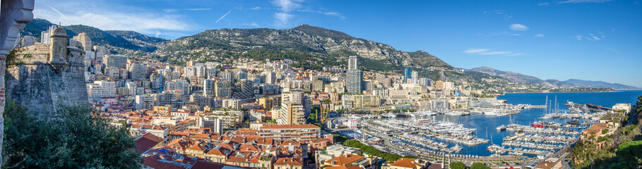The view on the Monte-Carlo, France, Cote d'Asure