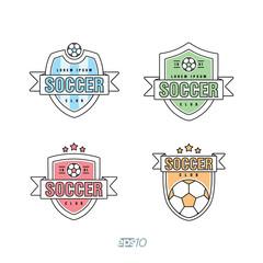 Soccer, Football Vector Logo Set
