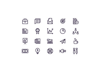 business icons set vector.line design.
