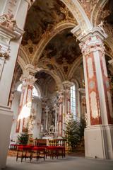 L'interno dell'Abbazia di Novacella, Valle Isarco, Varna, Bolzano, Trenatino Alto Adige, Italia