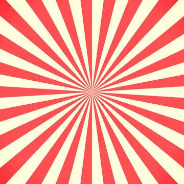 White and red sunburst pattern background