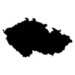 Czech Republic black map on white background vector