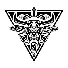 Bulls Tribal Tattoo