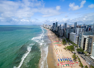 Papiers peints Brésil Aerial View of Boa Viagem Beach, Recife, Pernambuco, Brazil