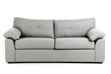 Fototapeta Grey sofa isolated on a white background obraz