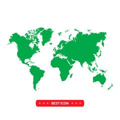 World vector map.