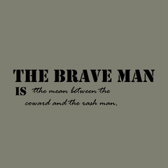 The brave man is the mean between the coward and the rash man.