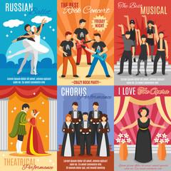 Flat Theatre Posters Set