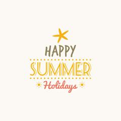 Summer Vacation label