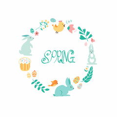 drawing seamless spring ornament.