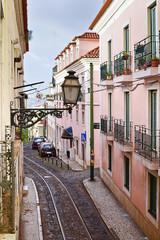 Lantern in Alfama district in Lisbon, Portugal