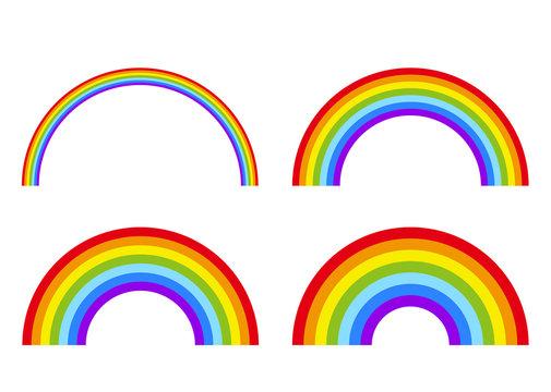 イラスト素材「虹(レインボー)」
