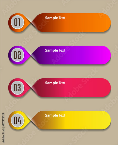 colorful modern text box template for website computer graphic and