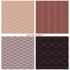 seamless pattern - a set of various grids.