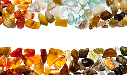 A collection of semi-precious stones