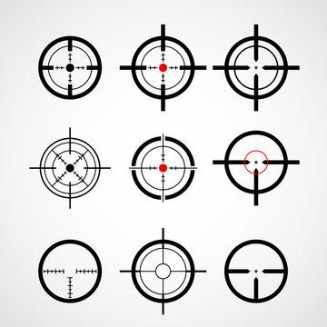 Crosshair (gun sight), target icons set