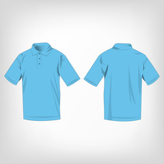 Baby blue polo shirt isolated vector