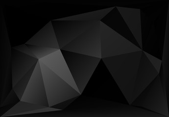 Black and White Abstract polygonal vector background