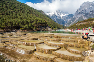 Blue moon Valley , White Water River waterfall and Jade Dragon S
